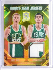 13-14 Spectra Double Team Gold Larry Bird & Kevin Mchale patch #D04/10 *49319