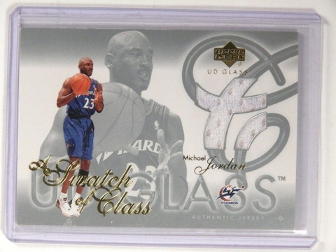 SOLD 9628 03-04 Upper Deck Glass A Swatch Of Class Michael Jordan jersey #SC-MJ sp! *52144