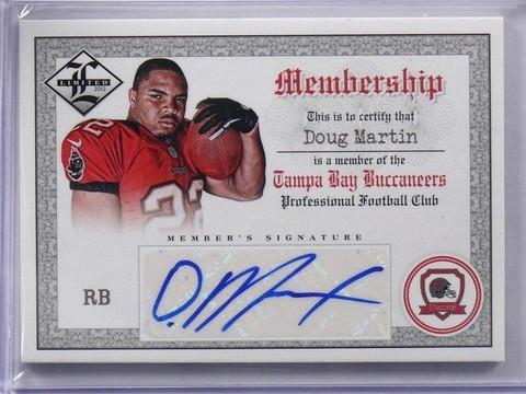 2012 Panini Limited Membership doug Martin autograph auto rookie #D18/25 *42287