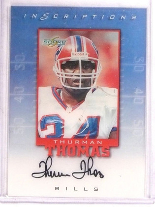1999 Score Inscriptions Thurman Thomas autograph auto #tt-34 *67526