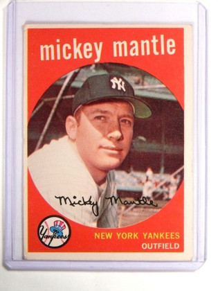 1959 Topps Mickey Mantle #10 VG *52119