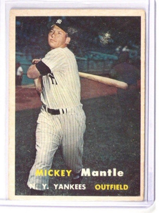 SOLD 9822 1957 Topps Mickey Mantle #95 VG *38692