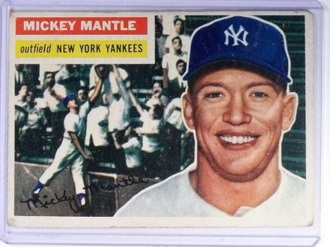 SOLD 9825 1956 Topps Mickey Mantle #135 VG *47790