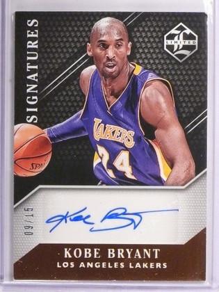 DELETE 359 2015-16 Panini Limited Signatures Kobe Bryant autograph auto #D09/15 *55098