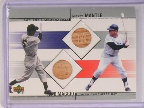DELETE 9871 2002 Upper Deck Combo Mickey Mantle & Joe Dimaggio bat #CB-DM *50539
