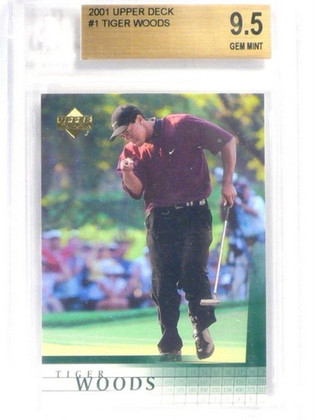 SOLD 2551 2001 Upper Deck Tiger Woods rc rookie #1 BGS 9.5 GEM MINT *40461
