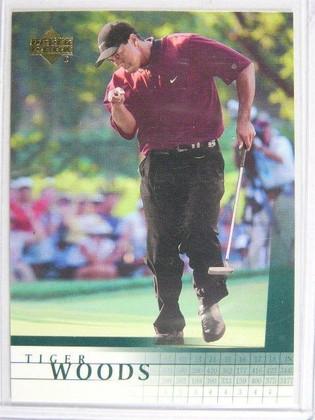 SOLD 2555 2001 Upper Deck Tiger Woods rc rookie #1 *19980