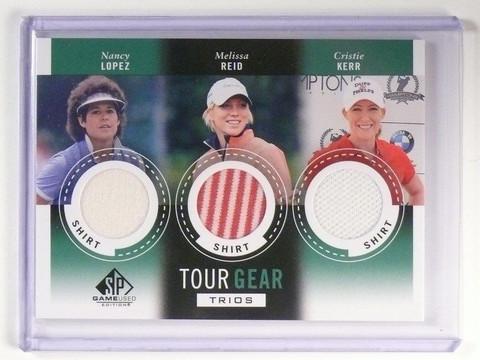 2014 SP Game Used Golf Nancy Lopez Melissa Reid Cristie Kerr Trios Shirt *46889