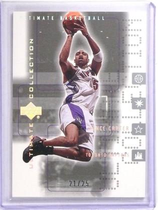 2001-02 Ultimate Collecton Platinum Vince Carter #D21/25 #55 *63996