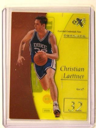 12-13 UD Fleer Retro EX Essential Credentials Christian Laettner #D04/19 *41274