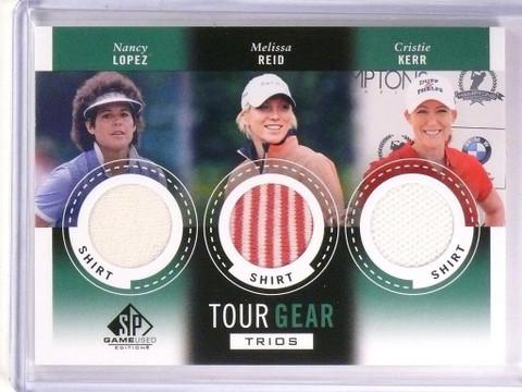 2014 SP Game Used Golf Tour Gear Trios Lopez Reid Cristie Kerr Shirt *53818