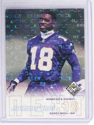 1998 Upper Deck UD Choice Reserve Randy Moss rc rookie  #270 *49650