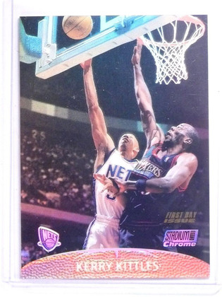 1999-00 Stadium Club Chrome First Day Issue Refractor Kerry Kittles #D07/25 *641