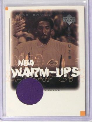 01-02 Upper Deck Encore NBA Warm-Ups Kobe Bryant warmup jersey #KB-W *38882