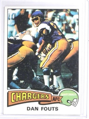 SOLD 6616 1975 Topps Dan Fouts Rookie RC #367 EXMT *60684