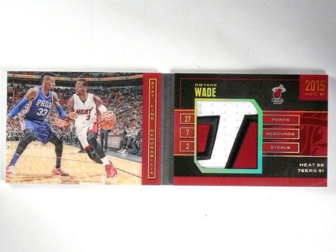 SOLD 10377 2015-16 Panini Preferred Stat Line Dwyane Wade Patch Book #D02/25 #SLDW *57691