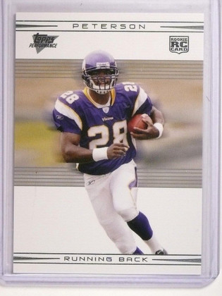 2007 Topps Performance Silver Adrian Peterson rc rookie #D32/50 #109 *50694