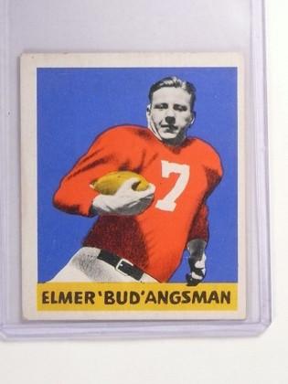 1948 Leaf Football Elmer Bud Angsman #25 #VG-EX *52332