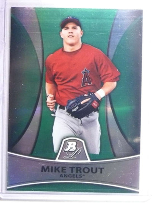 SOLD 14218 2010 Bowman Platinum Green Refractor Mike Trout rc rookie #D468/499 #PP5 *67644