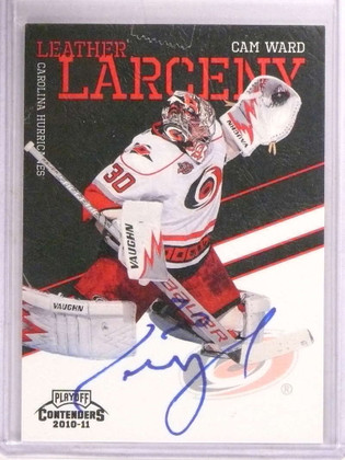 2010-11 Contenders Leather Larceny Cam Ward autograph auto #D50/50 *67873