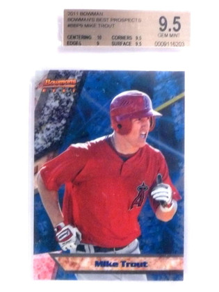 DELETE 14565 2011 Bowman's Best Prospects Mike Trout rc rookie #BBP9 BGS 9.5 GEM MINT *68001