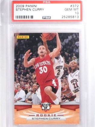 SOLD 14576 2009-10 Panini Stephen Curry #372 PSA 10 GEM MINT *68012