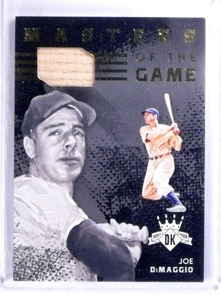 2016 Panini Diamond Kings Masters Of The Game Joe Dimaggio bat #D01/10 *68084
