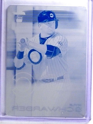 SOLD 14704 2016 Topps Finest Kyle Schwarber rc rookie Printing Plate #D 1/1 #67 *68142