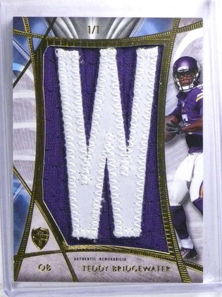 2014 Topps Supreme Teddy Bridgewater Nameplate Patch rookie #D 1/1 *68146
