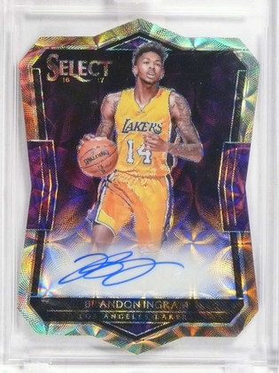 DELETE 14948 2016-17 Panini Select Diecut Scope Brandon Ingram autograph auto #D37/49 *68376