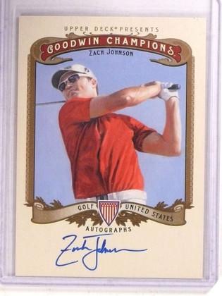 SOLD 15069 2012 Upper Goodwin Champions Zach Johnson autogrpah auto #A-ZJ *68506