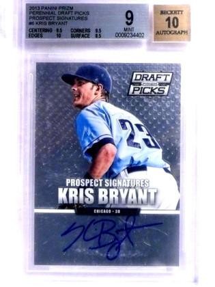 SOLD 15327 2013 Panini Prizm Draft Kris Bryant autograph auto rc rookie #6 BGS 9 *68821