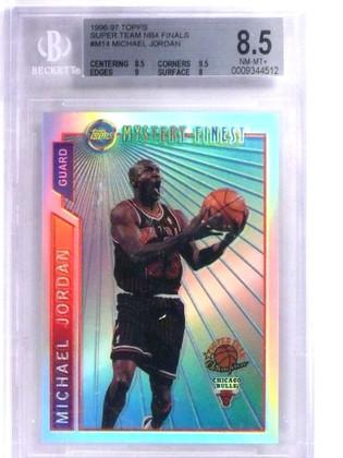 SOLD 15385 1996-97 Topps Super Team Refractor NBA Finals Michael Jordan #M14 BGS 8.5 *68823