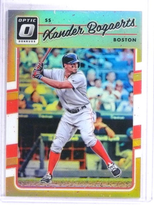 2017 Donruss Optic Gold Prizm Xander Bogaerts #D01/10 #79 *68899