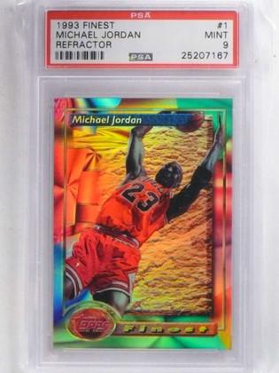 DELETE 15416 1993-94 Topps Finest Refractor Michael Jordan #1 PSA 9 MINT *68813