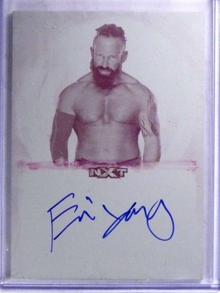 SOLD 15488 2017 Topps WWE Undisputed NXT Eric Young autograph Printing Plate 1/1 *68871
