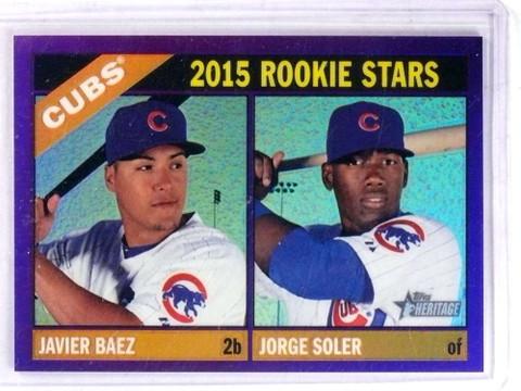 DELETE 15531 2015 Topps Heritage Chrome Purple Javier Baez & Jorge Soler rc #139 *69100