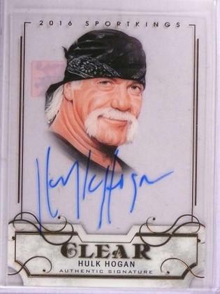 SOLD 15815 2016 Leaf Sportkings Clear Hulk Hogan autograph auto #SK-HH1 *69272