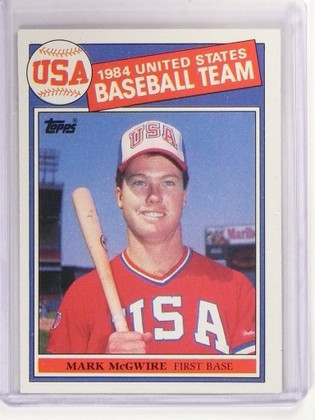 1985 Topps Mark Mcgwire rc rookie #401 *52963