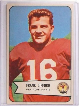 1954 Bowman Frank Gifford #55 VG-EX *69366