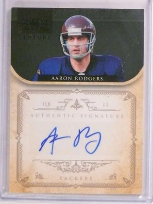 2011 National Treasures Century Black Aaron Rodgers autograph auto #D1/5 *69619