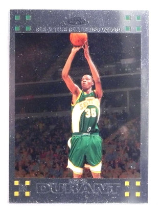 SOLD 16071 2007-08 Topps Chrome Kevin Durant rc rookie #131 *69632
