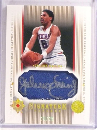 DELETE 16081 2004-05 Ultimate Collection Signature PatchesJulius Erving autograph #/25 *69647