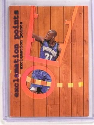 SOLD 16696 1998-99 Fleer Ultra Exclamation Points Kevin Garnett #10 *69717