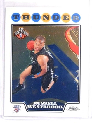 SOLD 16701 2008-09 Topps Chrome Russell Westbrook rc rookie #184 *69720