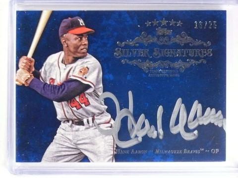 2013 Topps Five Star Silver Signatures Hank Aaron autograph auto #D16/25 *69957
