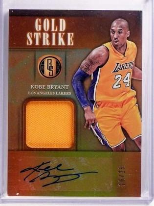 DELETE 16956 2016-17 Panini Gold Standard Gold Strike Kobe Bryant autograph jersey /25 *69965