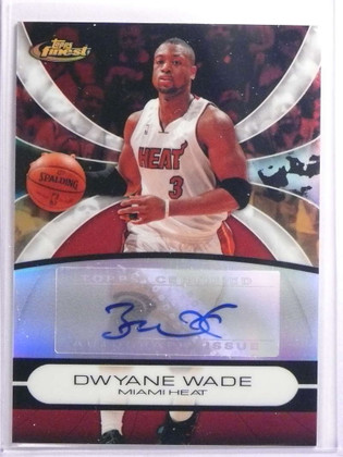 SOLD 17108 2008-09 Topps Finest Dwyane Wade autograph auto #DW *70057