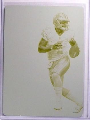 SOLD 17128 2017 Panini Contenders Dak Prescott Yellow Printing Plate #D 1/1 *70077