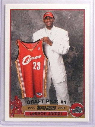 SOLD 17134 2003-04 Topps Lebron James rc rookie #221 *70083
